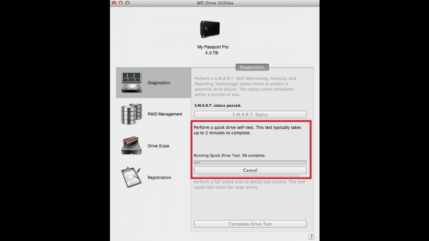WD Drive Utilities for Mac - review, screenshots