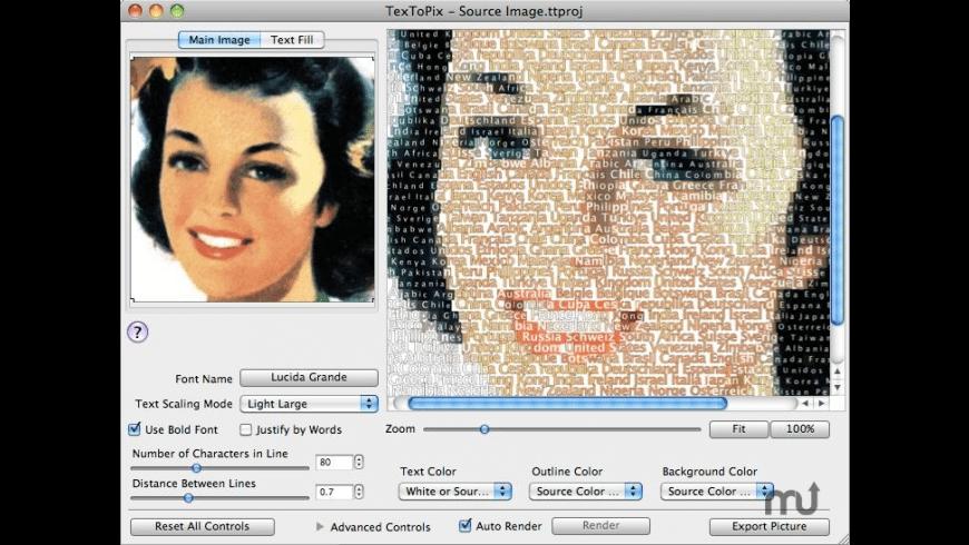 TexToPix for Mac - review, screenshots