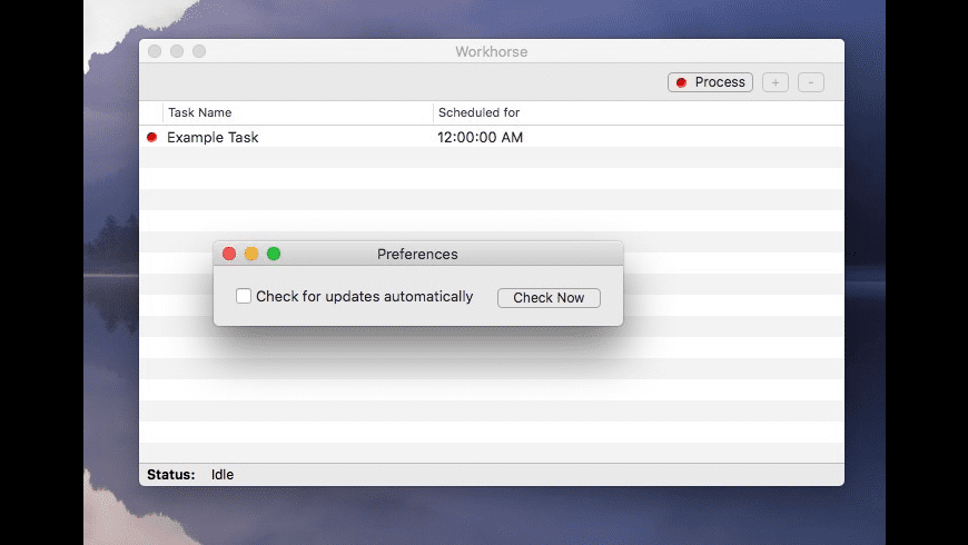 Workhorse for Mac - review, screenshots