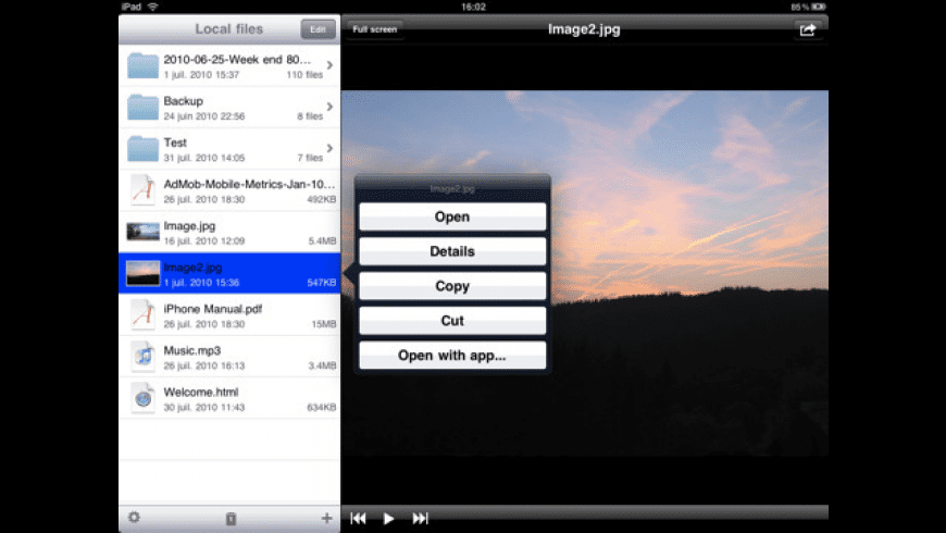 USB Disk for iPad for Mac - review, screenshots