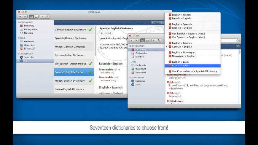Ultralingua Dictionaries for Mac - review, screenshots