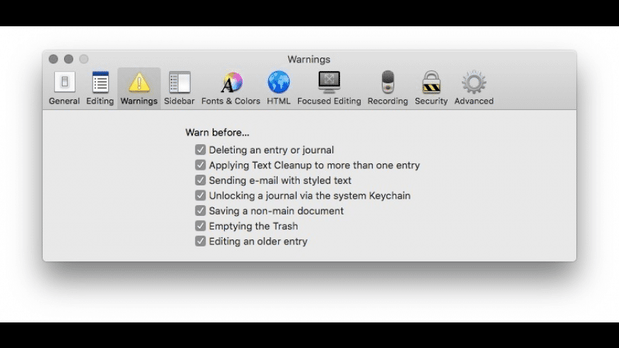 MacJournal for Mac - review, screenshots