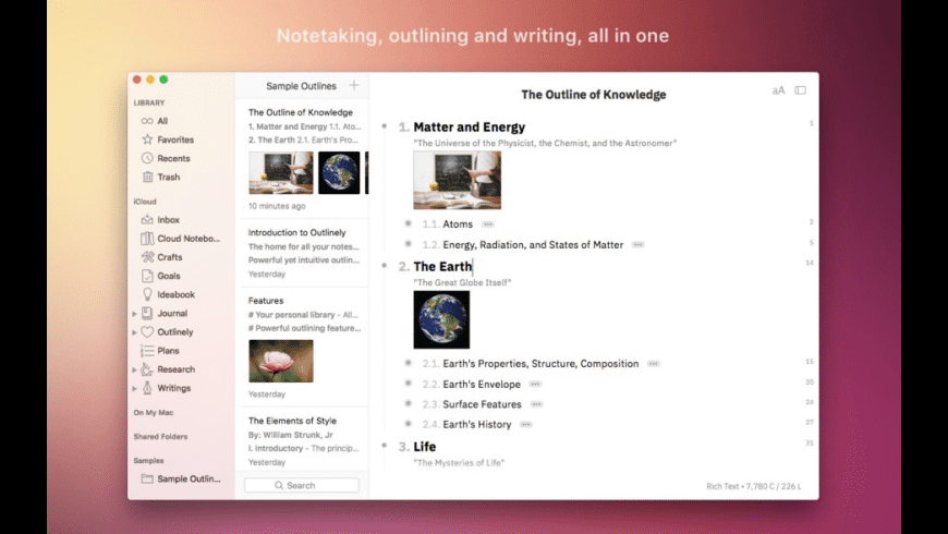Outlinely for Mac - review, screenshots