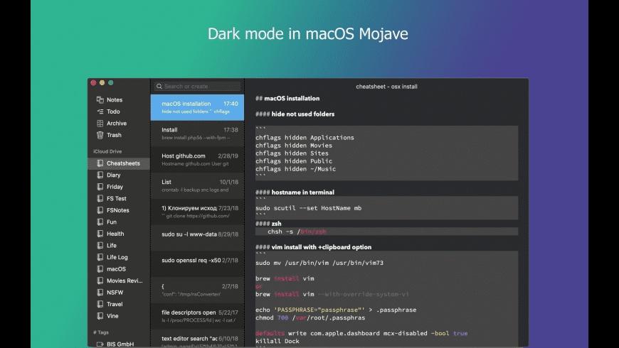 FSNotes for Mac - review, screenshots