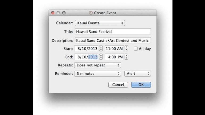TinyCal for Mac - review, screenshots