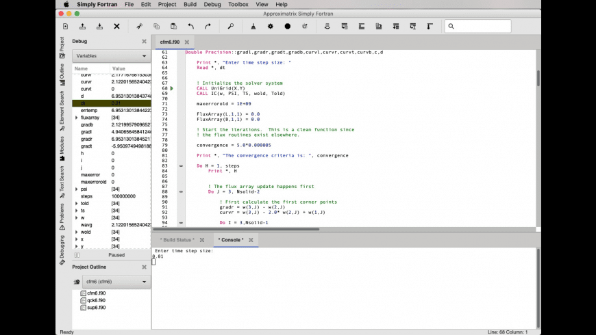 Simply Fortran for Mac - review, screenshots