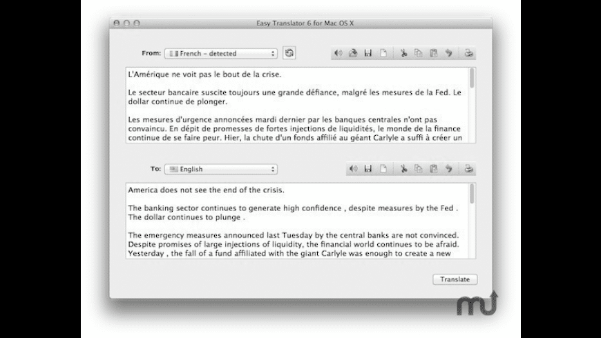 Easy Translator for Mac - review, screenshots