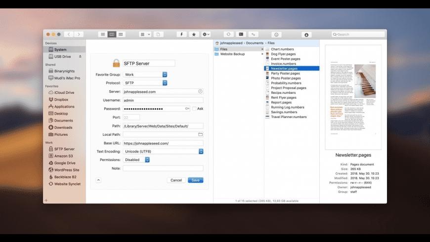 ForkLift for Mac - review, screenshots
