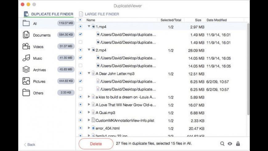 DuplicateViewer for Mac - review, screenshots