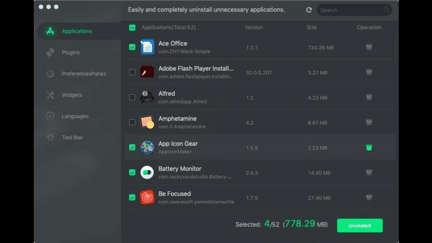 AppUninser for Mac - review, screenshots
