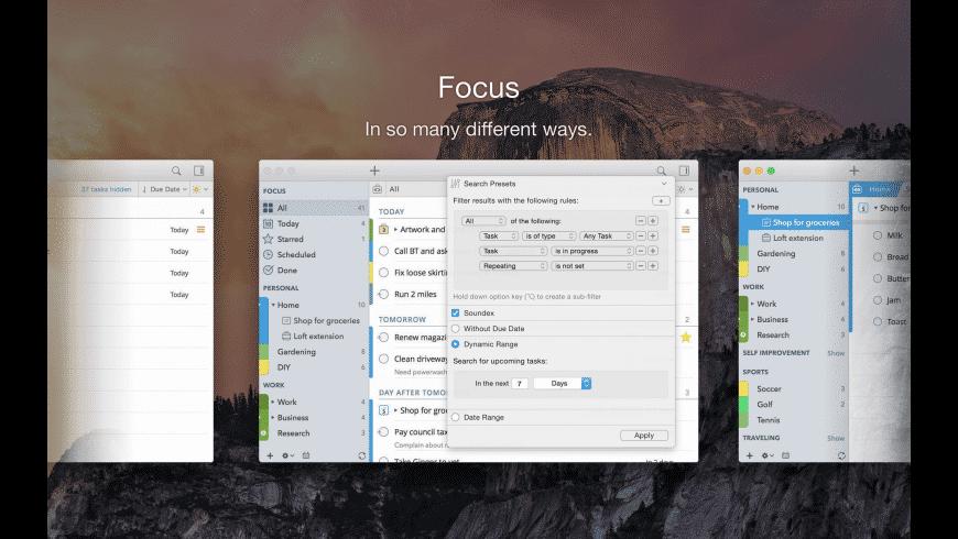 2Do for Mac - review, screenshots