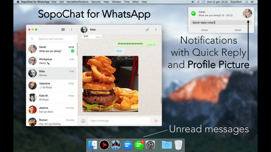 SopoChat for WhatsApp for Mac - review, screenshots