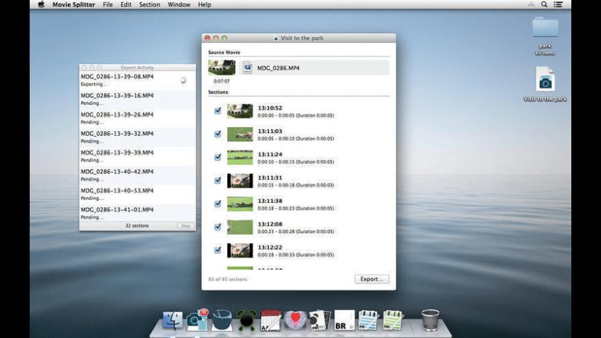 Movie Splitter for Mac - review, screenshots