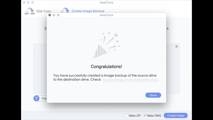 AweClone for Mac - review, screenshots
