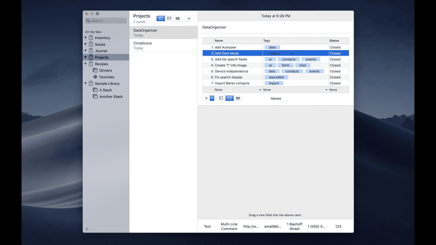 DataOrganizer for Mac - review, screenshots