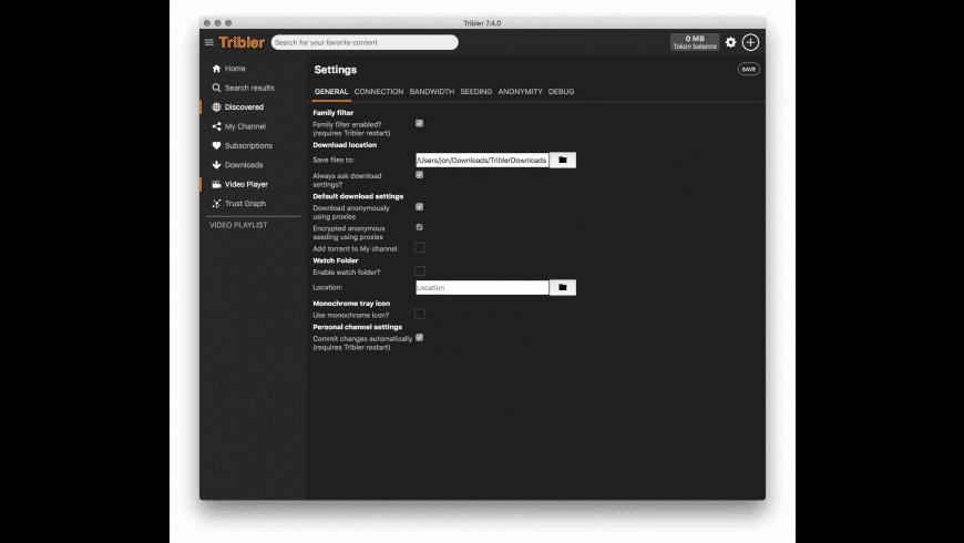 Tribler for Mac - review, screenshots