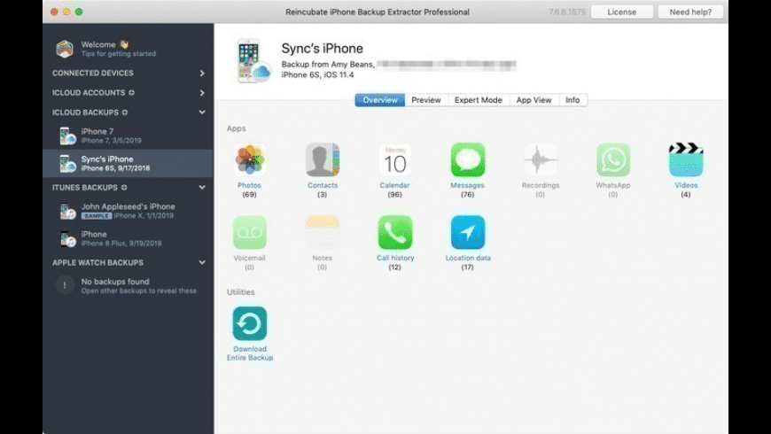 iPhone Backup Extractor for Mac - review, screenshots