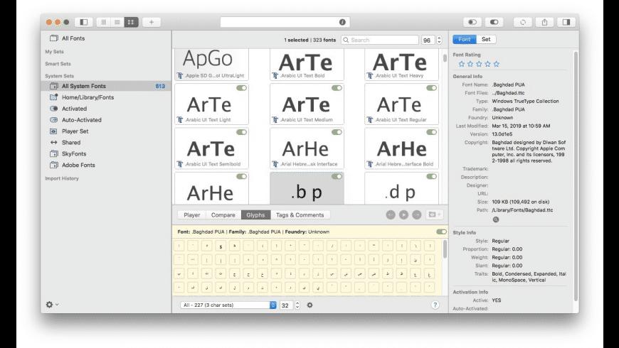 FontAgent for Mac - review, screenshots