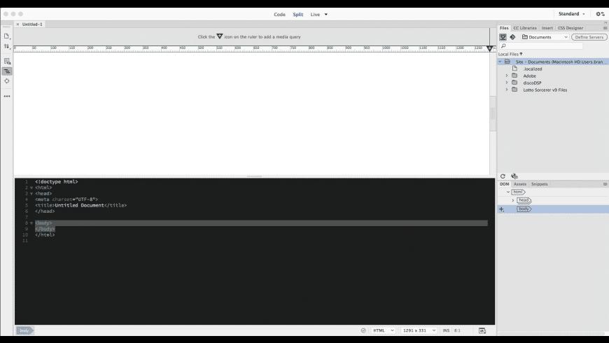 Adobe Dreamweaver CC 2020 for Mac - review, screenshots