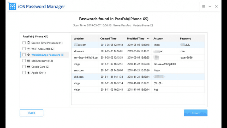 PassFab iOS Password Manager for Mac - review, screenshots