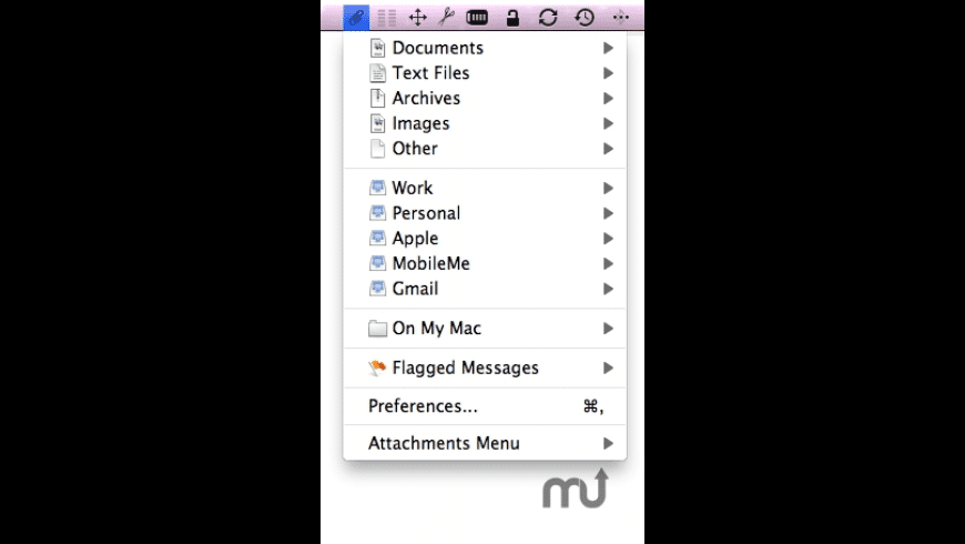 Attachments Menu for Mac - review, screenshots