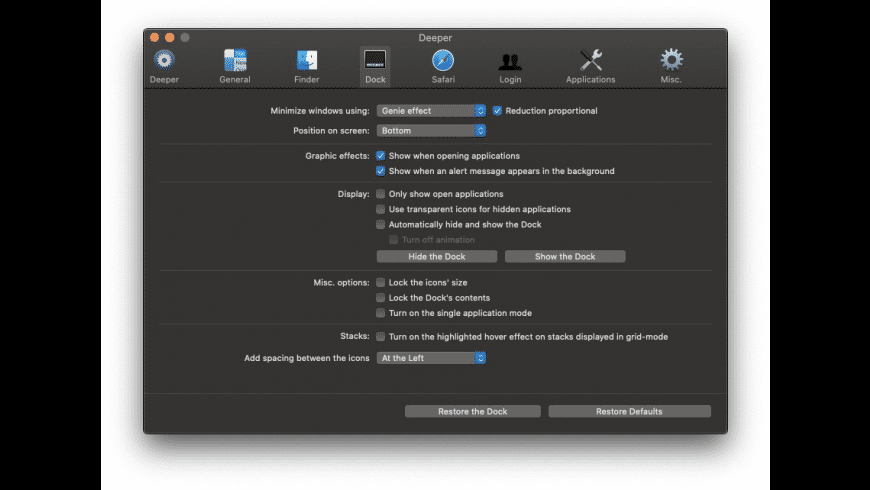 Deeper for Mac - review, screenshots
