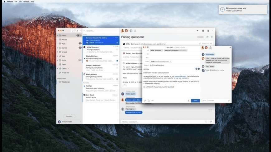 Missive for Mac - review, screenshots