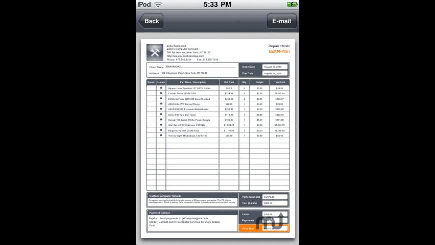 Repair Ticket for Mac - review, screenshots