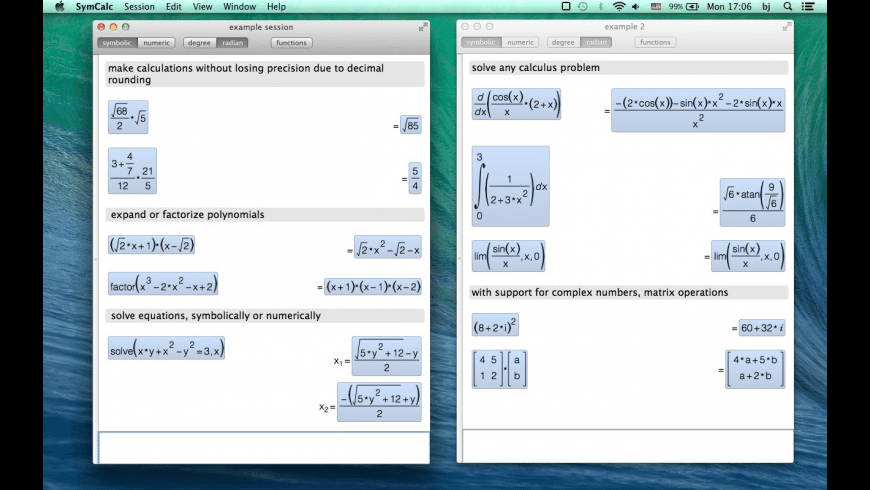 Symbolic Calculator for Mac - review, screenshots