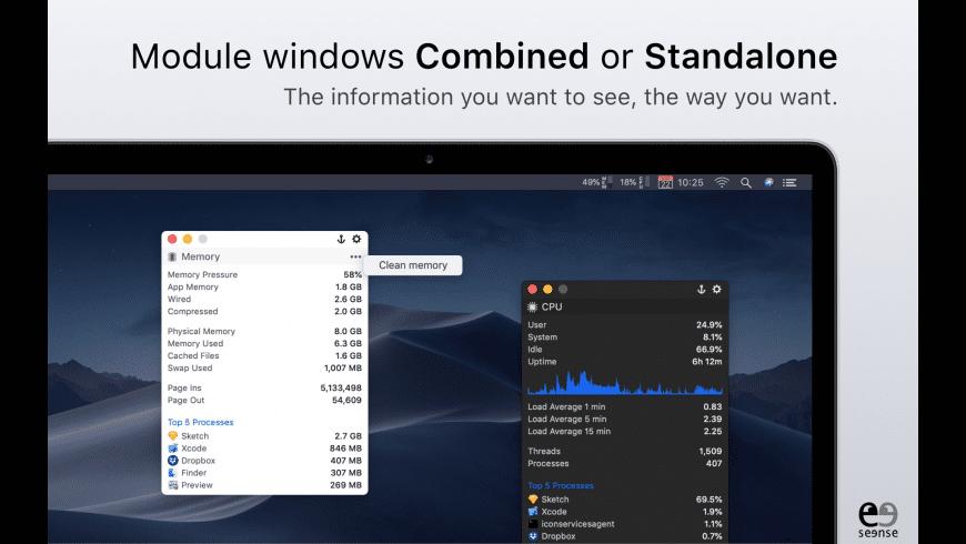 MenuBar Stats for Mac - review, screenshots