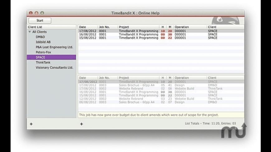 TimeBandit X for Mac - review, screenshots