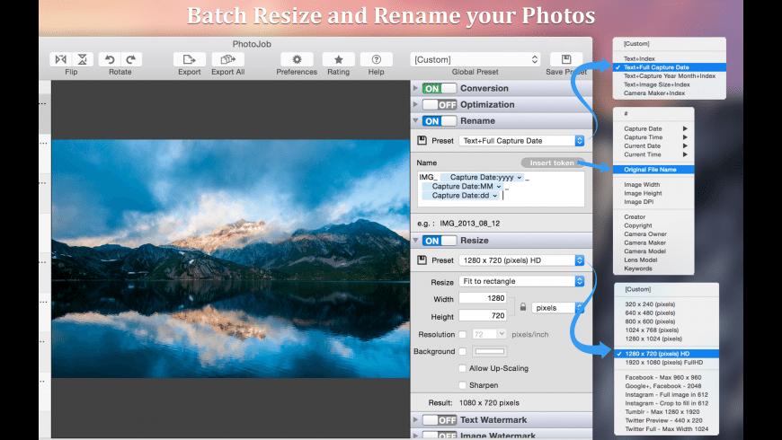 PhotoJob for Mac - review, screenshots
