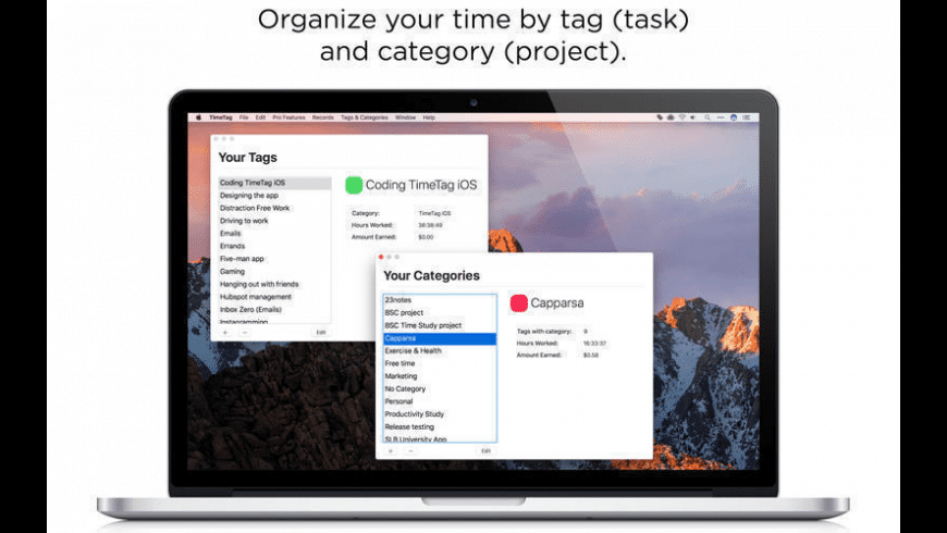 TimeTag for Mac - review, screenshots