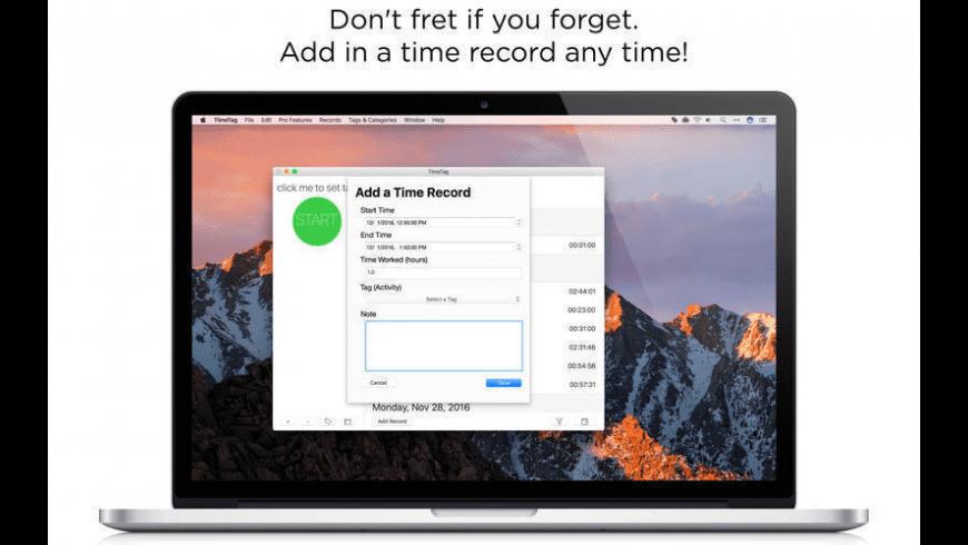 TimeTag for Mac - review, screenshots