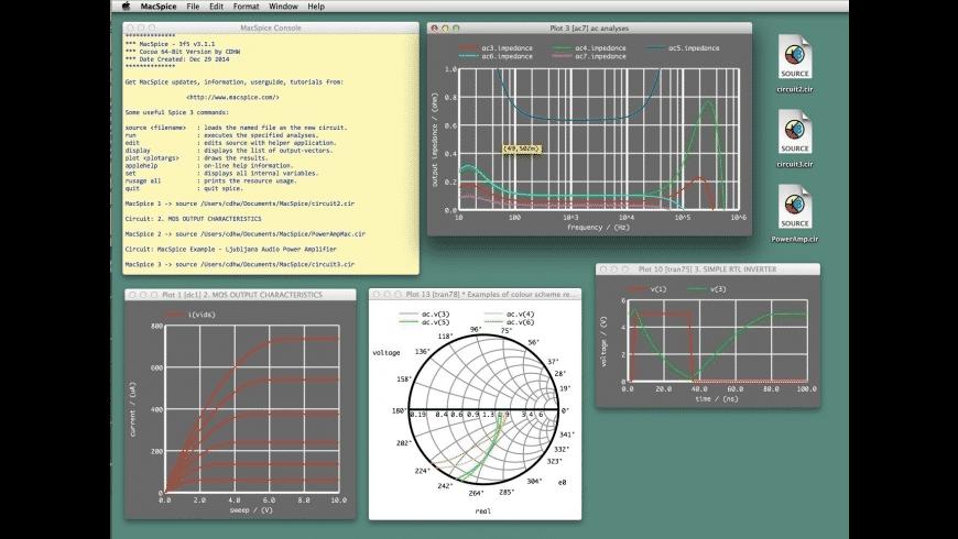 MacSpice for Mac - review, screenshots