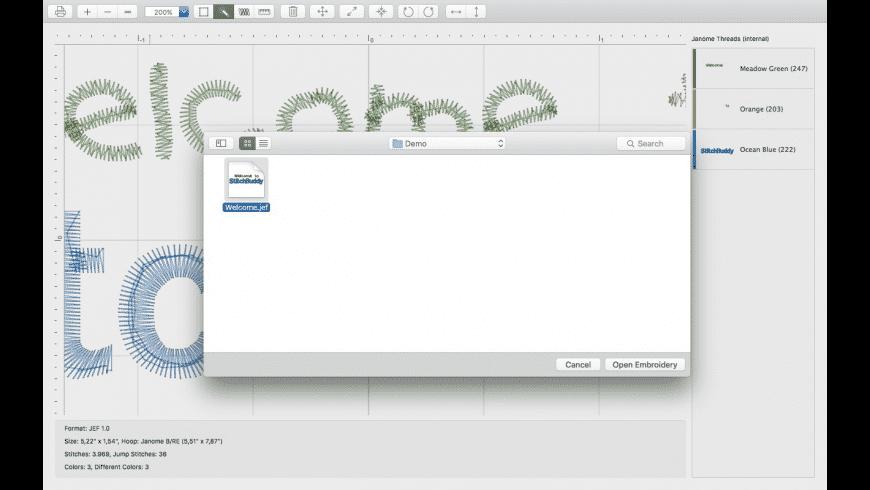 StitchBuddy for Mac - review, screenshots