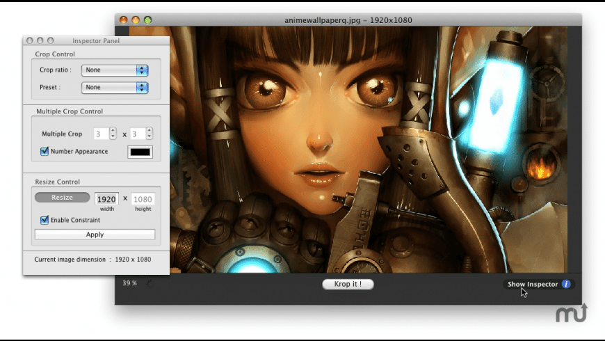 Kroper for Mac - review, screenshots