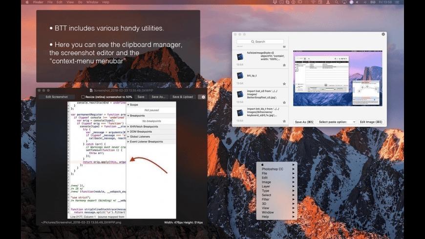 BetterTouchTool for Mac - review, screenshots