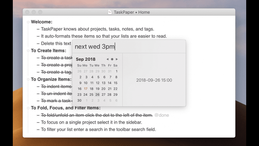 TaskPaper for Mac - review, screenshots