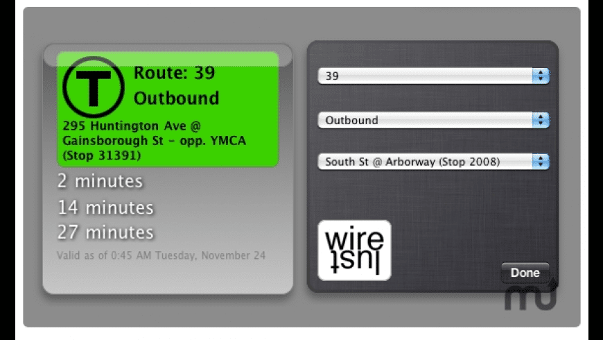 MBTA Bus Tracker for Mac - review, screenshots