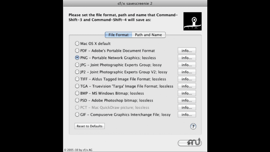 cf/x savescreenie for Mac - review, screenshots