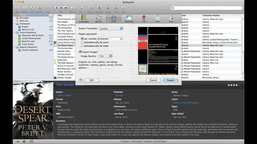 Bookpedia for Mac - review, screenshots