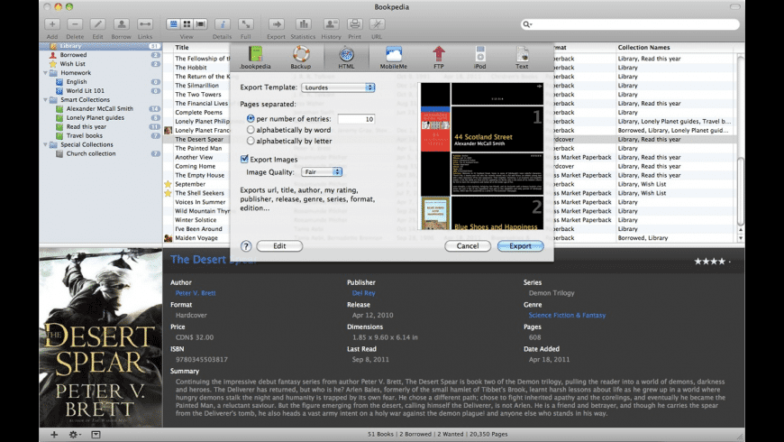 Bookpedia for Mac - review, screenshots