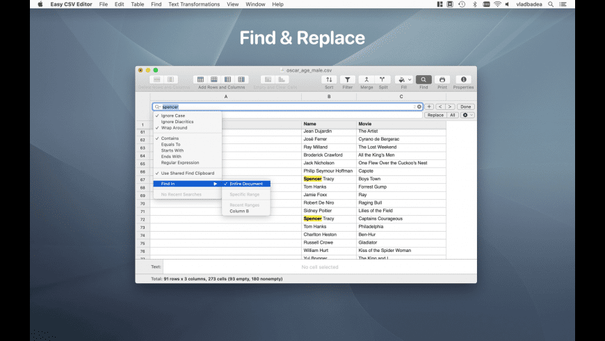 Easy CSV Editor for Mac - review, screenshots