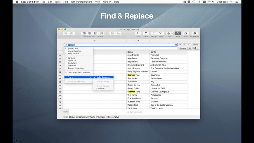 Easy CSV Editor for Mac - review, screenshots