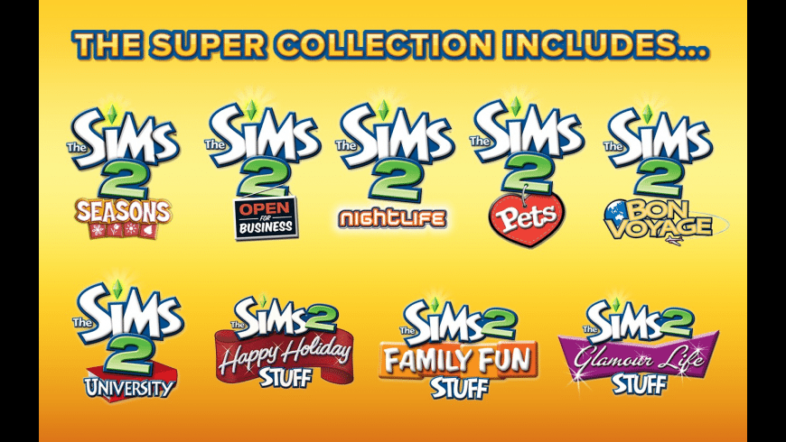 sims 2 super collection mac download free