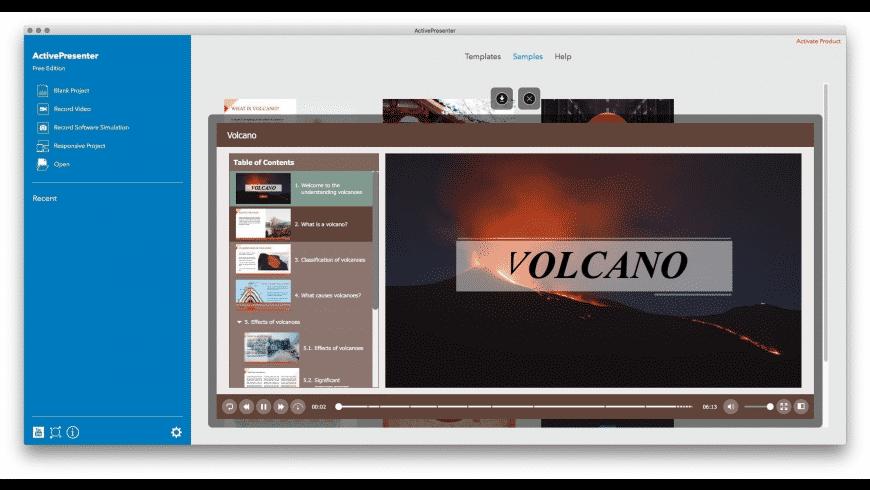 ActivePresenter for Mac - review, screenshots