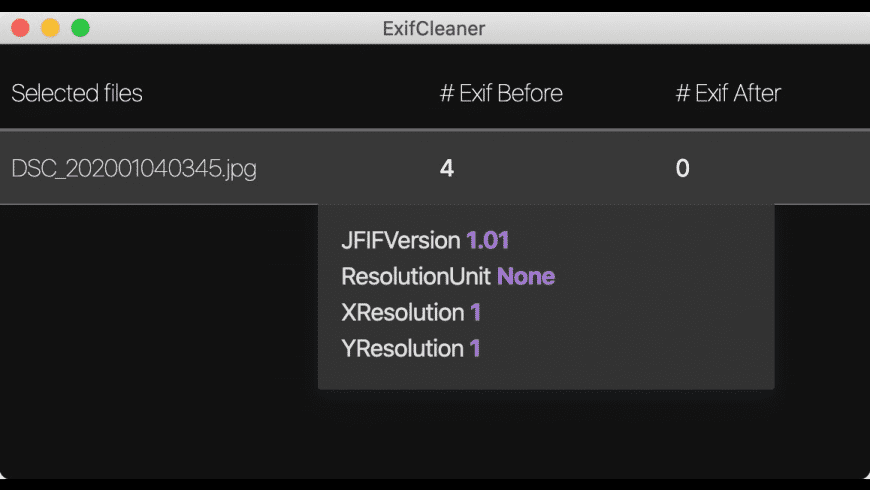ExifCleaner for Mac - review, screenshots