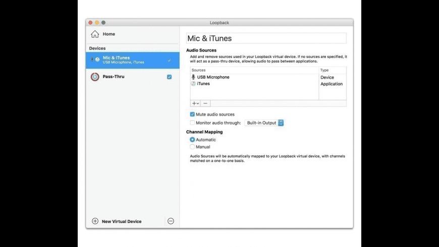 Loopback for Mac - review, screenshots