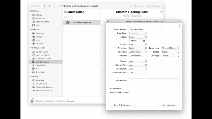 Murus Lite for Mac - review, screenshots